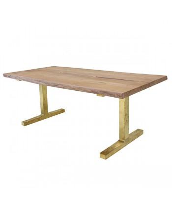 Mesa de Comedor Acacia y Latón