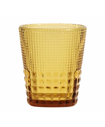 Juego de 4 Vasos Cristal Ámbar